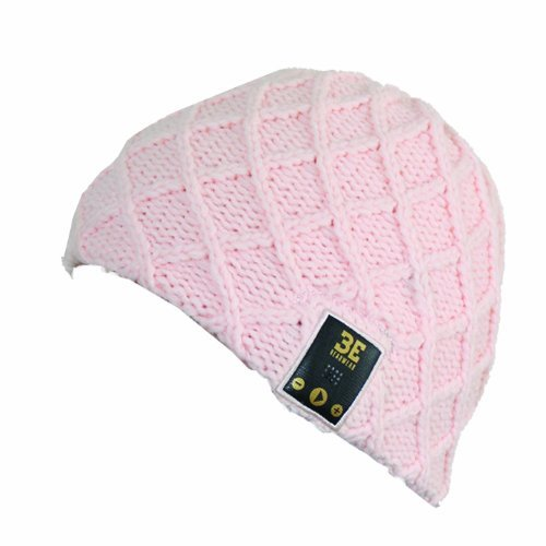 Be Headwear Bluetooth Wireless Headphone Speaker Microphone Beanie Hat Luv Spun Knit - Retail Packaging - Coral Pink