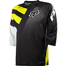 Fox Head Men's Covert 3/4 Jersey Black/Yellow Large