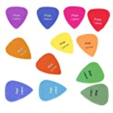 Sonline 12x Acoustic Electric Guitar Picks Plectrum Assorted Colours 6 Thickness New