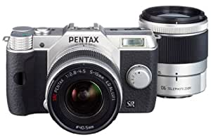 Pentax Q10 Kit compact hybride 12,4 Mpix Argent + Objectif 5-15 mm f/2.8-4.5 + 15-45 mm f/2.8