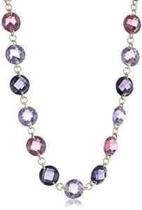"""Anne Klein """"Loretto"""" Gold-Tone Purple Strand Necklace, 36"""""""
