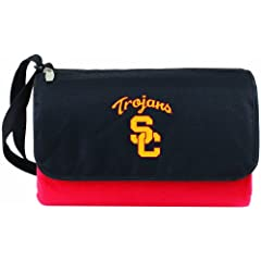 Buy NCAA USC Trojans Outdoor Picnic Blanket Tote, Red by Picnic Time
