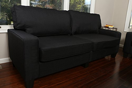 Home Life Upholstered Linen 3 Person Full Size Contemporary Pocket Coil Hardwood Sofa 282 78
