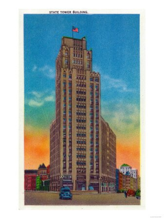 Syracuse, New York - Exterior View of State Tower Building