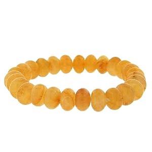 10mm Rondell Stretch Bracelet - Yellow Jade