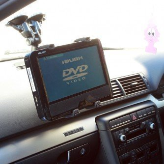 Ultimateaddons Dual Suction Car Mount Holder For Philips Dcp750 Portable Dvd Player
