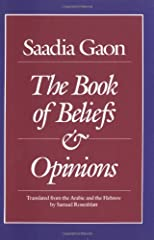 Saadia Gaon Book of Beliefs and Opinions (Judaica)
