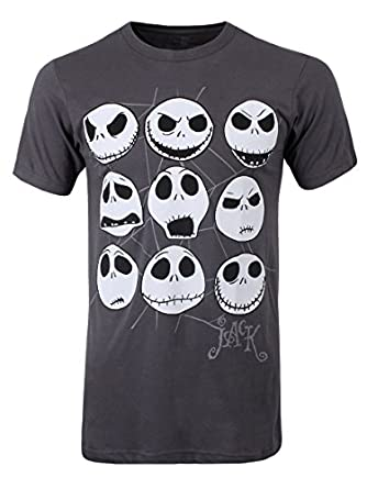 Nightmare Before Christmas Jacked Face Men's T-Shirt ...