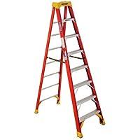 Werner 8-ft Fiberglass 300-lb Type IA Step Ladder