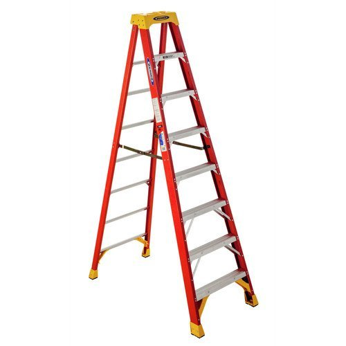 Werner 6208 300-Pound Duty Rating Type IA Fiberglass Stepladder, 8-Foot