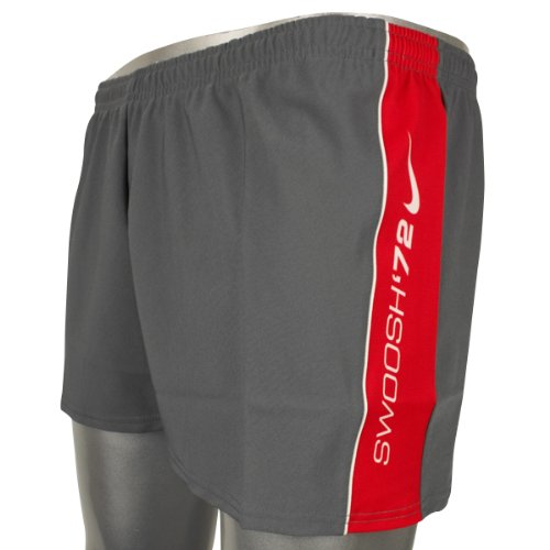 Mens Nike Grey Red Swim Swimming Short Stretch Sports Shorts Size S