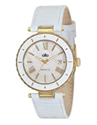 Elite Analog Ladies Dress White Dial Women's Watch - E53332G/125
