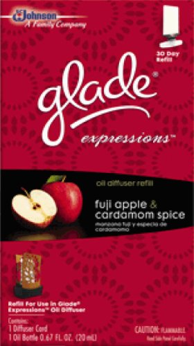Glade Expressions Oil Diffuser Refill - Fuji Apple & Cardamom Spice - One Package