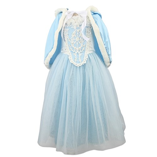 princess girls blue costume cosplay fancy party girls wedding dress