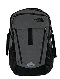 THE NORTH FACE SURGE BACKPACK ZINC GREY HEATHER / TNF BLACK