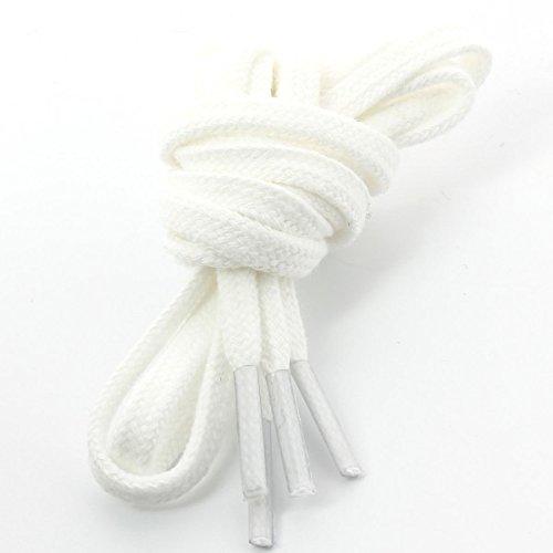 Die Schnürsenkel Französisch-Schnürsenkel Gerichte Baumwolle Farbe Weiß, Weiß - Weiß - weiß - Größe: 70