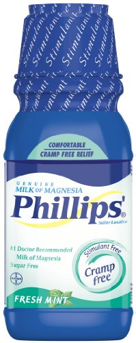Phillips' Fresh Mint Milk of Magnesia Liquid, 12-Ounces (Pack of 2)