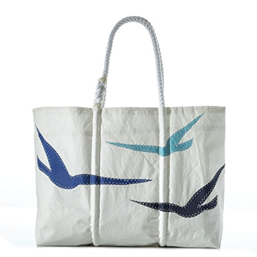 Custom House Gulls Tote-White-Large