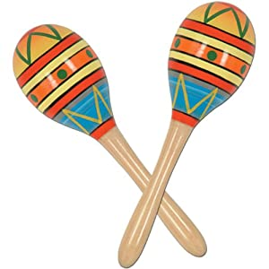 Fiesta Fun Party Maracas Party Accessory (1 count) (2/Pkg)