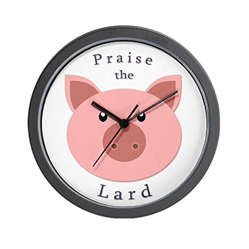 CafePress Praise the Lard Wall Clock - Standard Multi-color