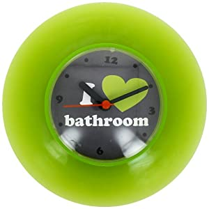 Promobo Horloge Pendule Ventouse Salle De Bain Bathroom Vert Cuisine Maison