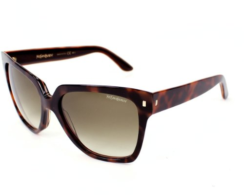 Yves Saint Laurent Yves Saint Laurent 6351/S Sunglasses Caramel Beige Havana / Brown Gray Gradient