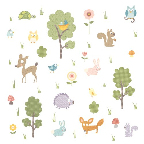 Roommates Rmk1398Scs Woodland Animals Peel & Stick Wall Decals front-1079562