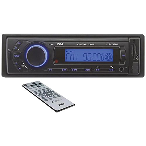 Pyle Plr27Mpbu In-Dash Bluetooth Receiver Multimedia System With Usb/Sd Readers And Ipod/Mp3 Compatibility