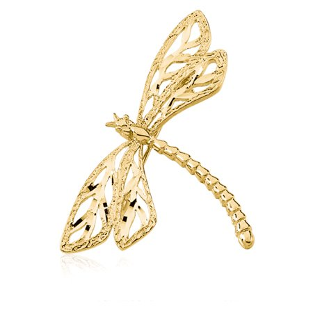 Dragonfly brooch in 14 Karat Yellow Gold