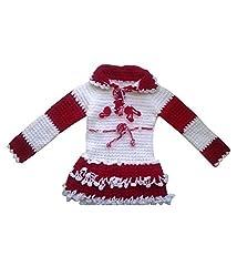 Durga Unne Ghar Girls Sweater (Durga Unne Ghar-31_Red _6-12 Months)