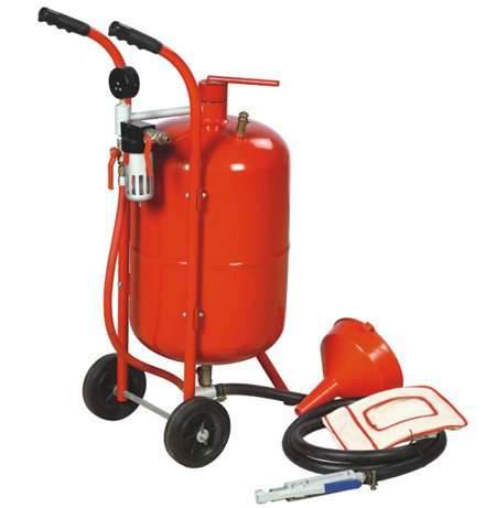 10 Gallon Sandblaster Equipped With Nozzle Shut-off Valve Pressure Gauge Ceramic Nozzle 2.5m Hose Filling Funnel Watertrap 6