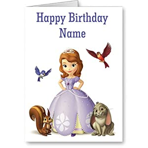 Amazon.com: sofia the first personalised birthday card: Kitchen