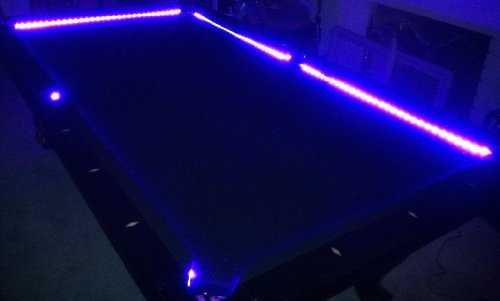 Octane Lighting Bar Billiard Pool Table Bumper Led Rgb Color Changing Light Beat To Music Remote front-39067
