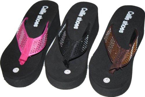 Flip Flops With Wedge Heel
