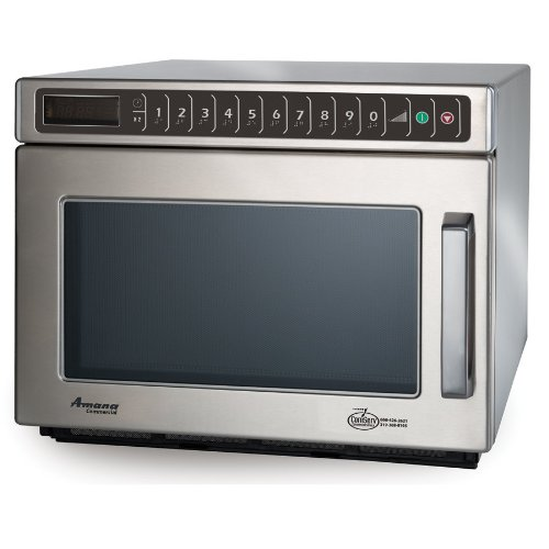 Amana Hdc182 1800 Watt Heavy Duty Commercial Microwave 208/240V All Stainless back-603105