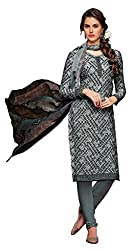 Grey,Multi Color Crepe Straight Salwar Suit Unstitched Dress Materials