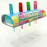 4 Count Ice Freezer Pop Maker Mold Popsicle Frozen Treat Icepop Cool No Dripping