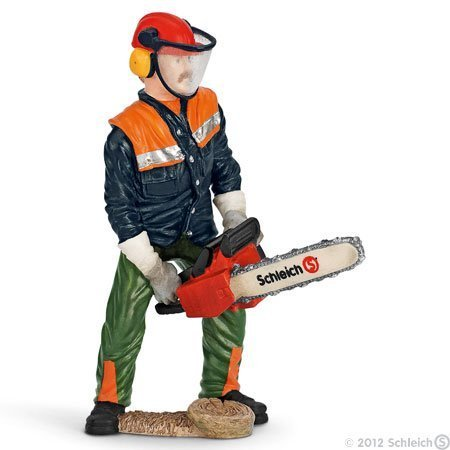 Schleich Forestry Worker with Chainsaw by Schleich (English Manual)
