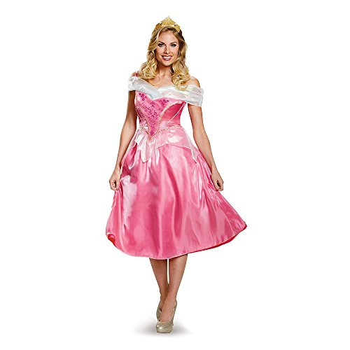 Halloween 2017 Disney Costumes Plus Size & Standard Women's Costume Characters - Women's Costume CharactersDisguise Women's Aurora Deluxe Adult Costume, Pink Dress - Standard Sizes
