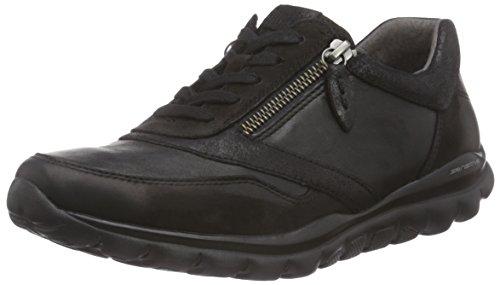 Gabor Comfort Basic, Low-Top Sneaker donna, Nero (Schwarz (schwarz 57)), 35.5
