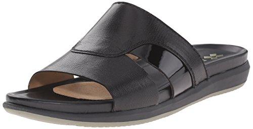 Naturalizer Women's Subtle Flat Sandal, Black, 8 M US (Naturalizer Womens Sandals compare prices)
