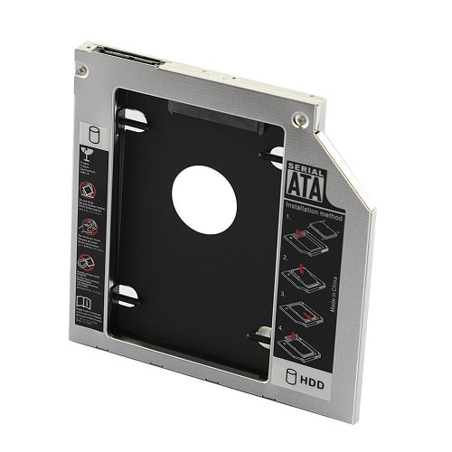 Tabstore Universal Sata 9.5 Mm Sata To Sata 2Nd Hard Driver Aluminum Led Caddy For Optical Drive Bay