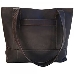 Piel Leather Top-Zip Tote by Piel Leather