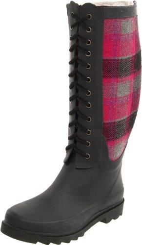 Chooka Women's Berry Wool Plaid Rain Boot