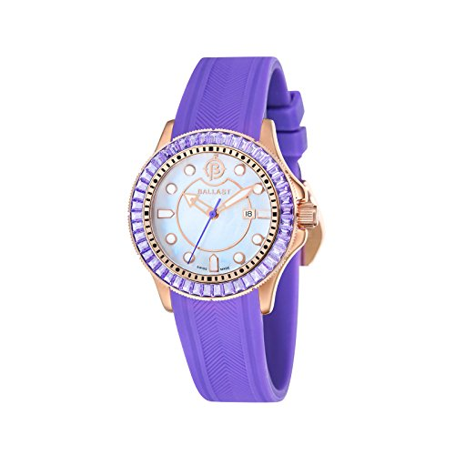 Ballast VANGUARD Women's Purple Integrated Silicon Strap Watch - BL-5101-0A