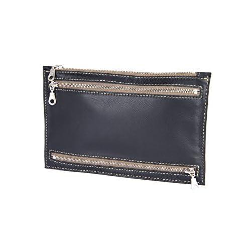 [ボーデッサン] BEAU DESSIN S.A. マルチポーチ バッグインバッグ 通帳ケース パスポートケース PO3544 ポポロカーフシリーズ ブラック BD-PO3544-BK