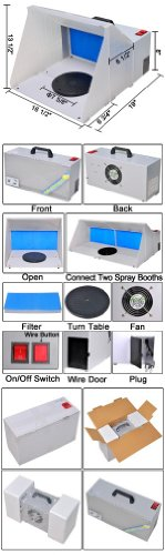 Portable Airbrush Hobby Spray Booth with Fan Filter