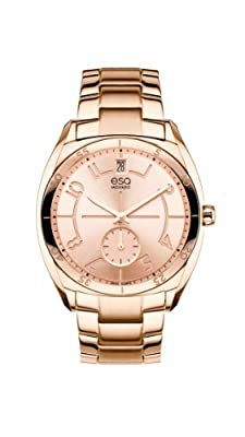 Esq Movado Womens 07101402 Esq Origin Tm Tonneau-shaped Rose-gold Plated Watch from ESQ by Movado