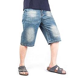 Men\'s Hip Hop Baggy Jeans Loose Denim Shorts Trousers [Apparel]