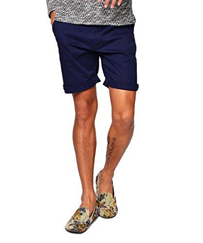 エボリューション(EVOLUTION) ショートパンツ メンズ ショーツ ハーフパンツ 無地 膝上 半パン 短パン ショーパン ストレッチ オシャレ M ネイビー(12)